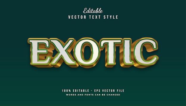 Stile di testo esotico in verde e oro