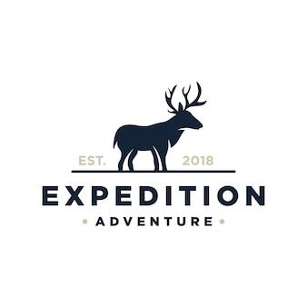 Avventura di spedizione con logo cervo