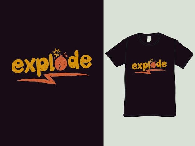 Esplodere fantasia parole t-shirt design