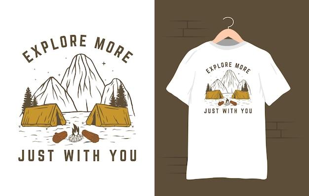 Esplora l'illustrazione della maglietta da campeggio
