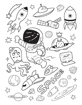 Esplorare nel cielo doodle