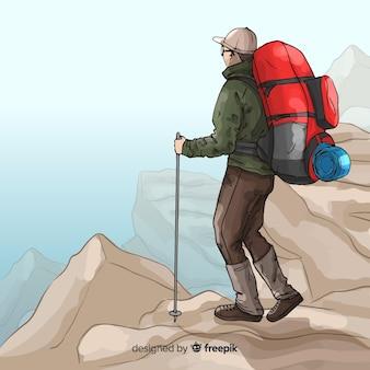 Explorer con zaino