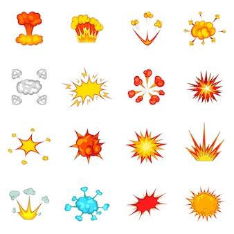 Set di icone di esplosione