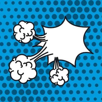Progettazione di esplosione stile illustrazione vettoriale pop art