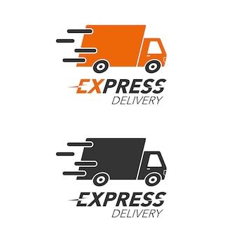 Concetto di icona di consegna espressa Vettore Premium