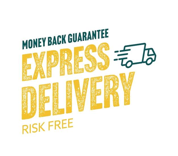 Adesivo per consegna espressa affare e-commerce senza rischi