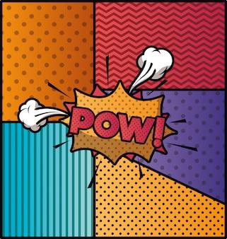 Bolla di espressione con stile pow pop art