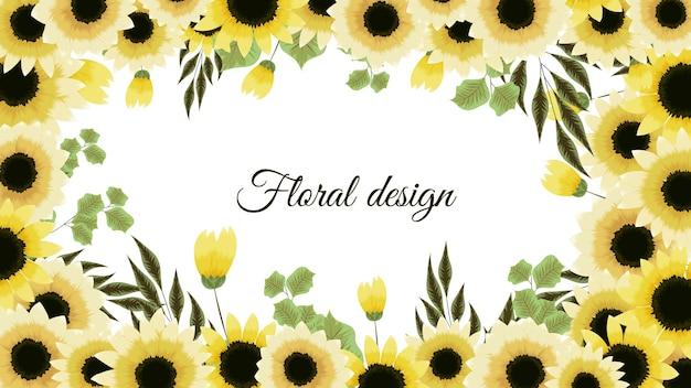 Squisito modello di sfondo astratto fiore giallo con posto per il tuo testo elementi floreali