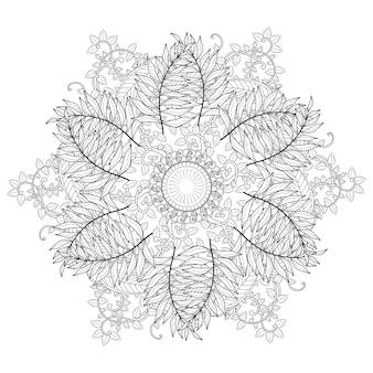 Squisito design pattern mandala in bianco e nero