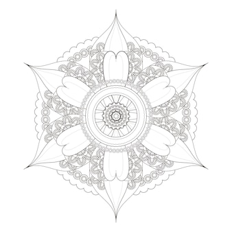 Squisito design pattern mandala in bianco e nero