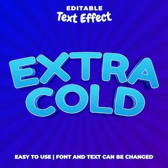 Extra freddo - effetto di testo modificabile in stile blu