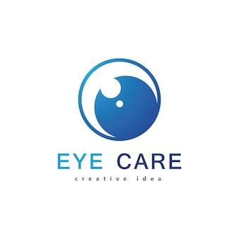 Design del logo per la cura degli occhi