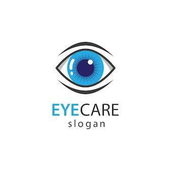 Progettazione dell'illustrazione di immagini di logo di cura dell'occhio