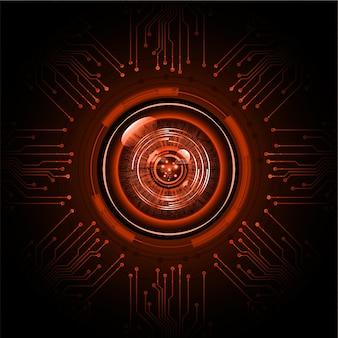 Occhio cyber circuito futuro concetto di tecnologia sfondo