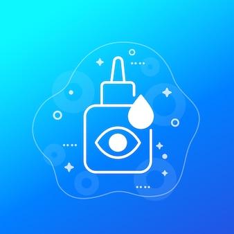 Icona di vettore di bottiglia di collirio