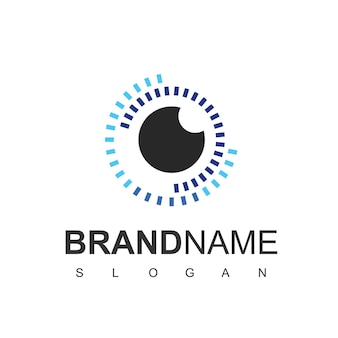 Modello di progettazione del logo dell'occhio, fotografia e icona ottica