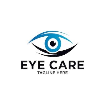 Modello di progettazione del logo dell'occhio
