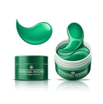 Cerotti per gli occhi nei cosmetici vasetti cerotti idrogel per la cura della pelle