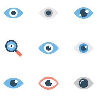 Flat pack di simboli dell'occhio