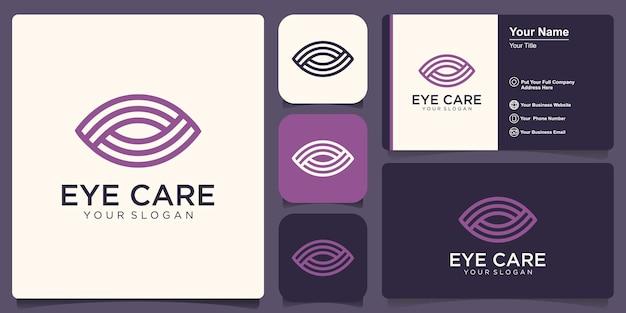Modello di progettazione di logo di vettore dell'occhio. stile moderno minimal design piatto.