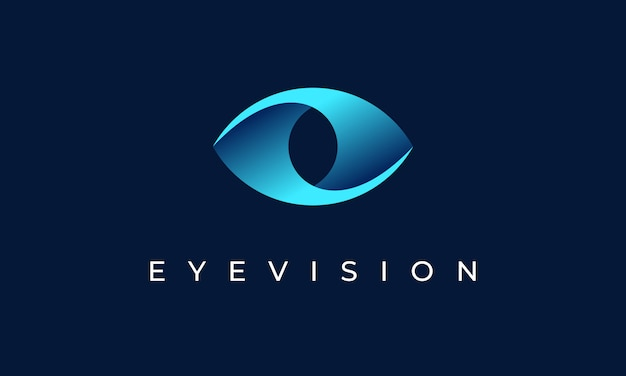 Occhio vision logo design icon symbol