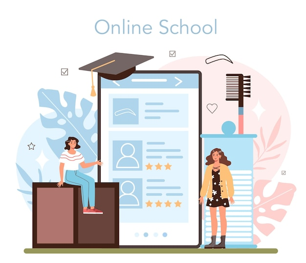 Servizio o piattaforma online del master per sopracciglia