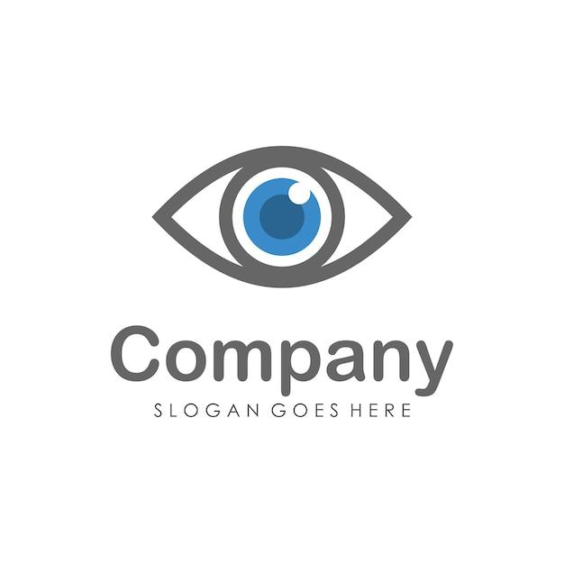 Modello di progettazione del logo visione degli occhi