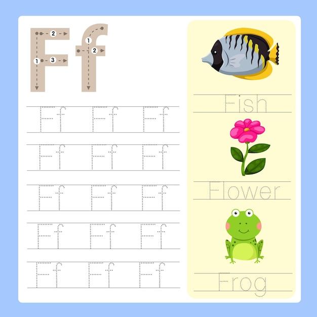 F vocabolario dei cartoni animati di esercizio