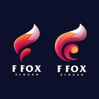 F logo design fox