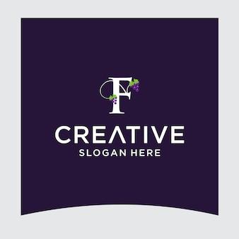 Design del logo dell'uva f