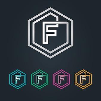 F logo esagone