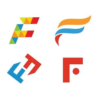 F logo iniziale vettoriale