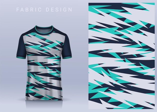 Design tessile in tessuto per maglietta sportiva maglia da calcio per vista frontale dell'uniforme della squadra di calcio