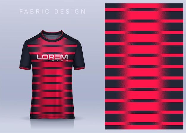 Design tessile in tessuto per maglietta sportiva mockup di maglia da calcio per squadra di calcio