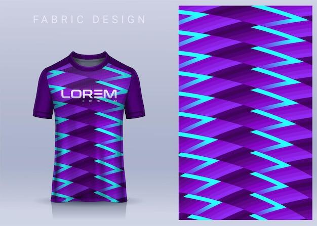 Design tessile in tessuto per maglietta sportiva modello di maglia da calcio per vista frontale dell'uniforme della squadra di calcio