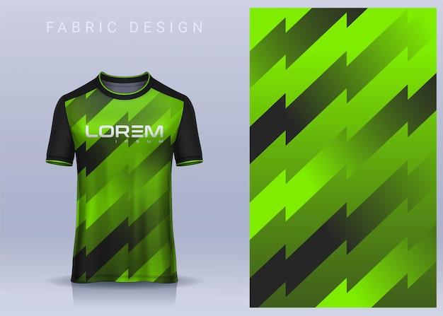 Design tessile in tessuto per maglietta sportiva modello di maglia da calcio per vista frontale dell'uniforme del club di calcio