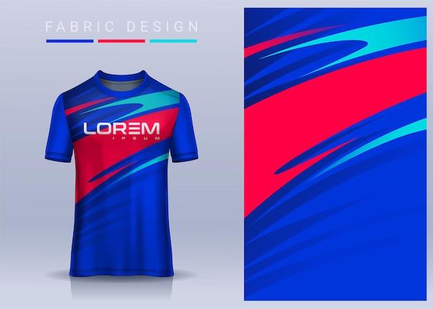 Tessuto in tessuto per t-shirt sportiva, maglia da calcio per squadra di calcio. vista frontale uniforme.