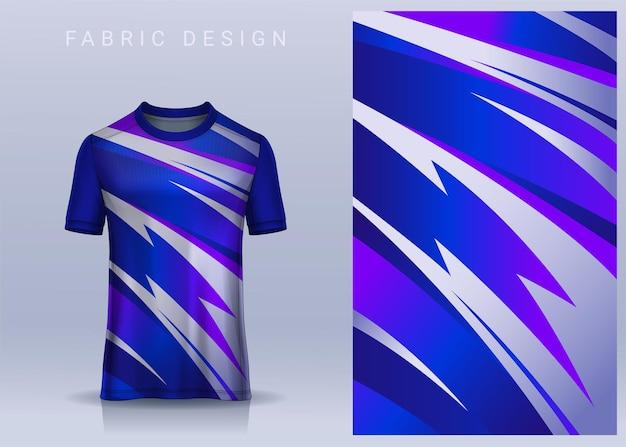 Tessuto in tessuto per maglietta sportiva maglia da calcio. vista frontale dell'uniforme del club di calcio
