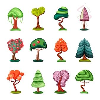 Favoloso set di bonsai geometrici