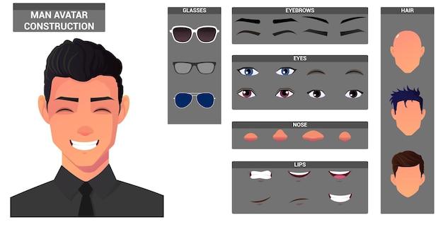 Set di costruzione del viso e creazione del personaggio.