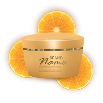 Crema viso a base di arance, crema realistica