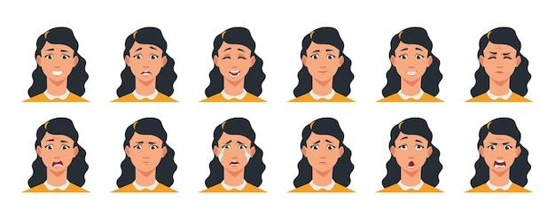 Illustrazione di espressione del viso