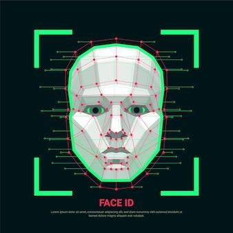 Concetto di identificazione del viso
