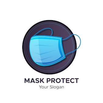 Modello di logo maschera facciale