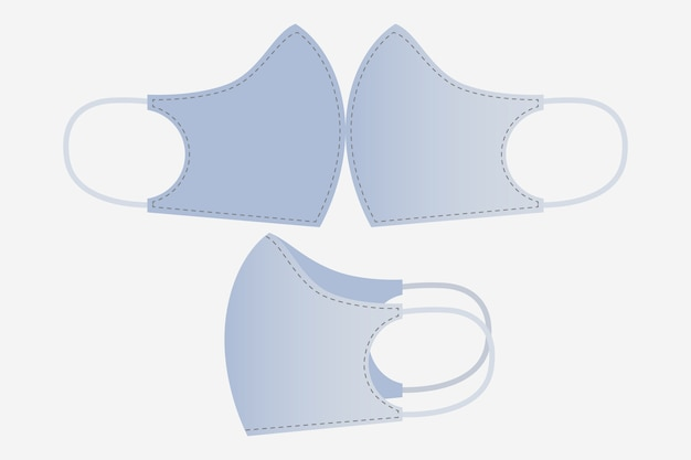 Modello di cucitura maschera facciale