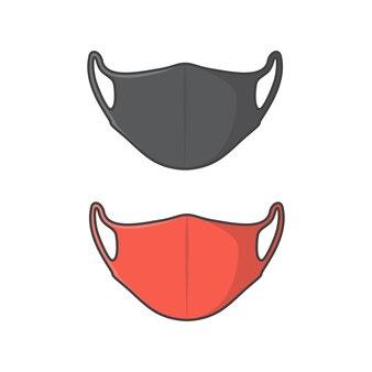 Illustrazione dell'icona di vettore della maschera per il viso. icona piana di protezione antivirus