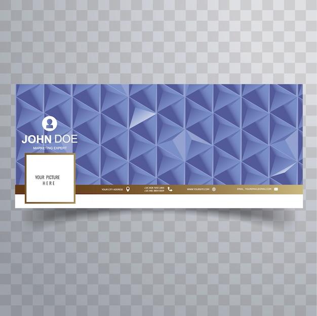 Modello di copertina blu 3d astratto di facebook