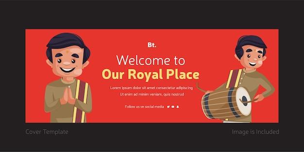 Copertina di facebook di benvenuto nel nostro design del luogo reale
