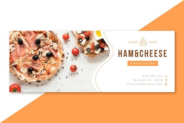 Design della copertina del ristorante di cibo di facebook