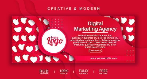 Copertina della pagina facebook e modello di banner web